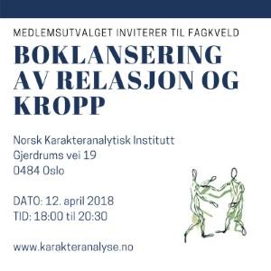 Fagmøte NKI 12 april 2018 - Boklansering