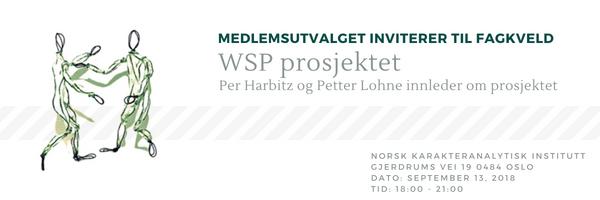 NKI fagkveld 13 september 2018: WSP prosjektet