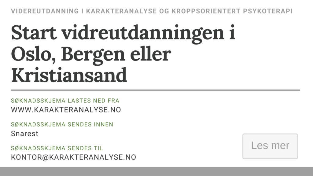Neste grunnseminar (Oslo, Bergen, Kristiansand)