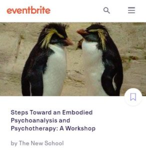 Steps Toward an Embodied Psychoanalysis and Psychotherapy: A Workshop