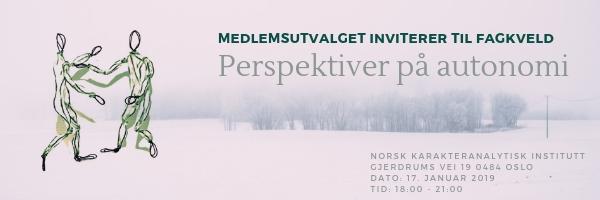 Fagmøte: Perspektiver på autonomi