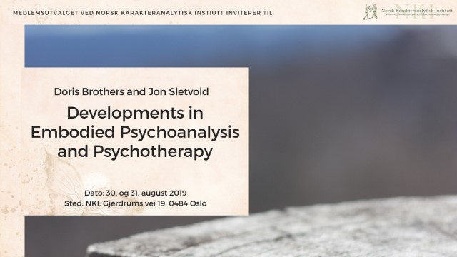 Workshop: Developments in Embodied Psychoanalysis and Psychotherapy