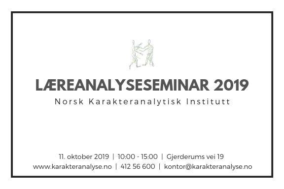 Læreanalyseseminaret 2019, 11. oktober 2019 (10:00 - 15:00)