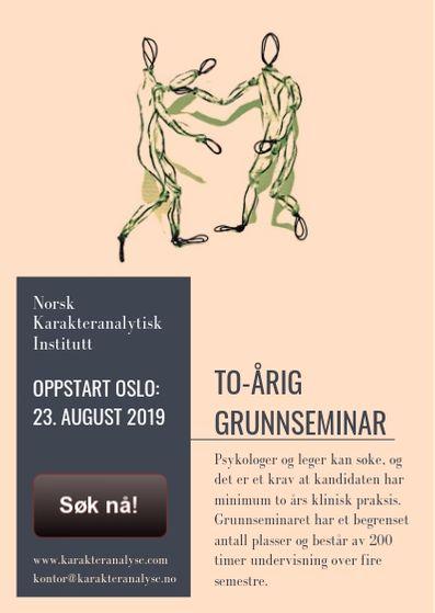 Neste grunnseminar starter 23. august 2019. Søk nå!