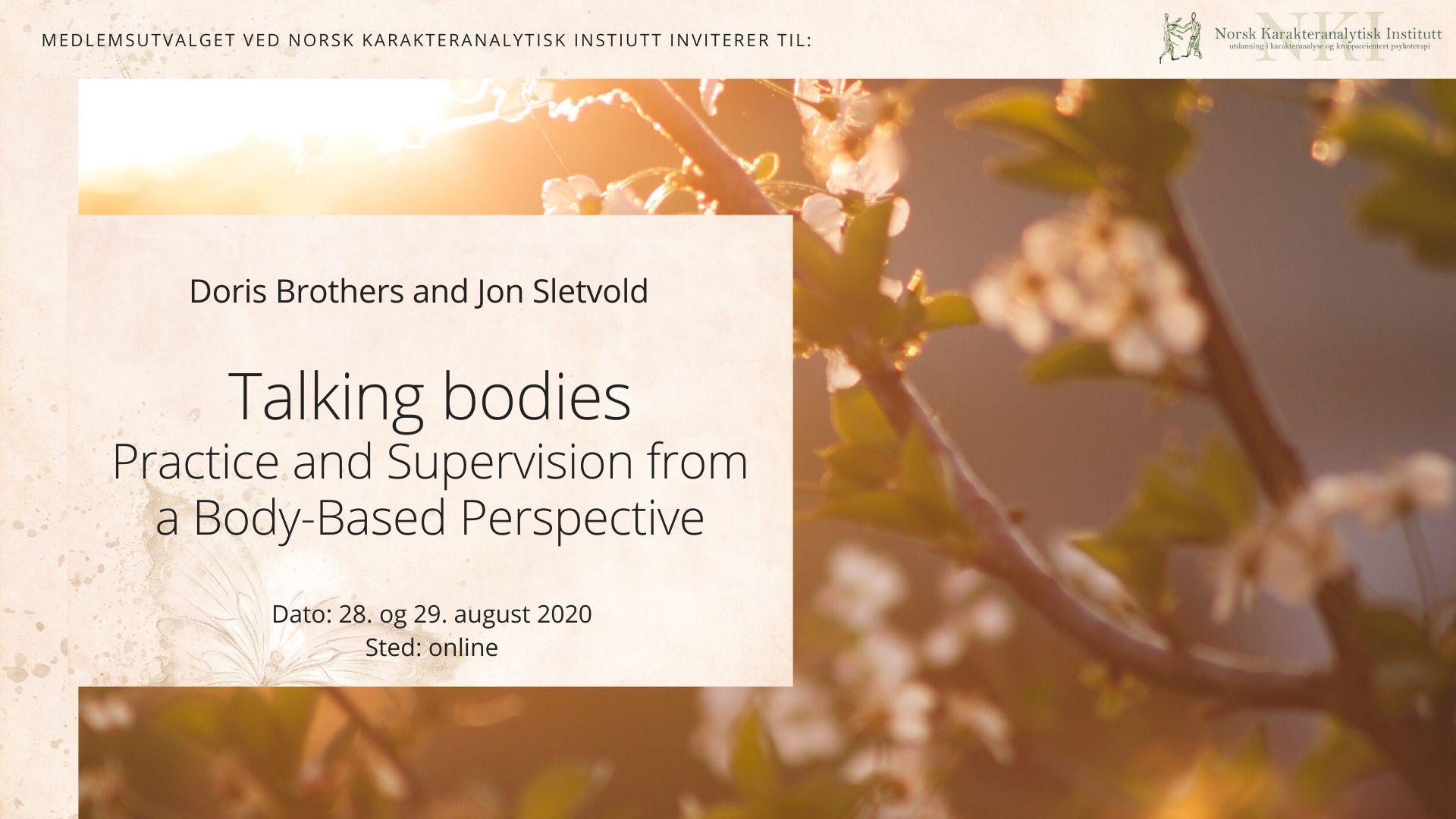 Workshop : Talking bodies